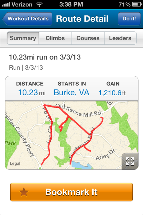 Sunday's long run