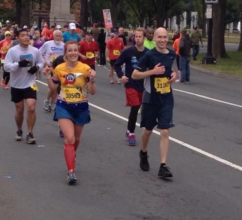 Feeling great at mile 17!