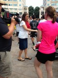Anna Duggar & her media entourage!!